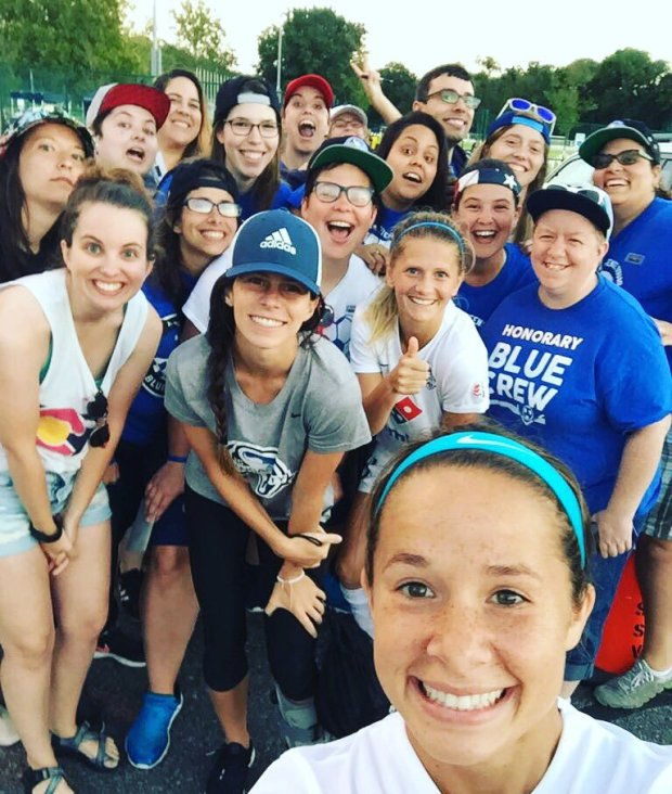 NWSL KC Blue Crew with FC Kansas City Players