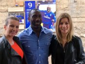 Lynsey Hooper, Jimmy Floyd Hasselbaink, and Kait Borsay