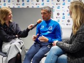 Kait Borsay, Chris Hughton, and Hayley McQueen