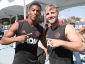 Manchester United Luke Shaw and Anthony Martial