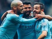 Manchester City David Silva Sergio Aguero