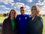 Lynsey Hooper, Gerard Deulofeu, and Hayley McQueen