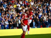 nottingham forest players celebrating