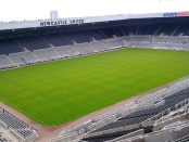 Empty pitch at St. James Park, home of Newcastle United FC