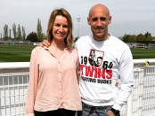 Pablo Zabaleta and Lynsey Hooper for The Offside Rules Exclusives podcast