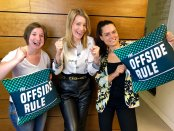 Robyn Cowan, Kait Borsay, and Claire Rafferty for The Offside Rule Women's World Cup 2019 podcast