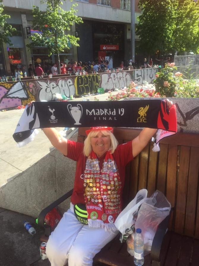 Liverpool superfan Beryl Mealand