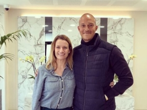 Bobby Zamora and Lynsey Hooper for The Offside Rule Exclusives interview