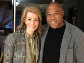 Kait Borsay and John Barnes