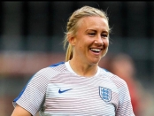 Image of Laura Basset wearing a Lionesses jersey